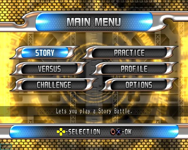 Image du menu du jeu King of Fighters - Maximum Impact 2 sur Sony Playstation 2