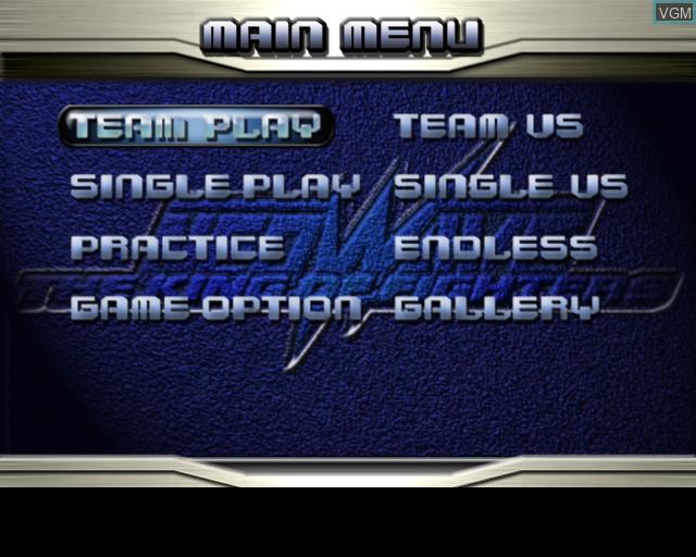 Image du menu du jeu King of Fighters NeoWave, The sur Sony Playstation 2