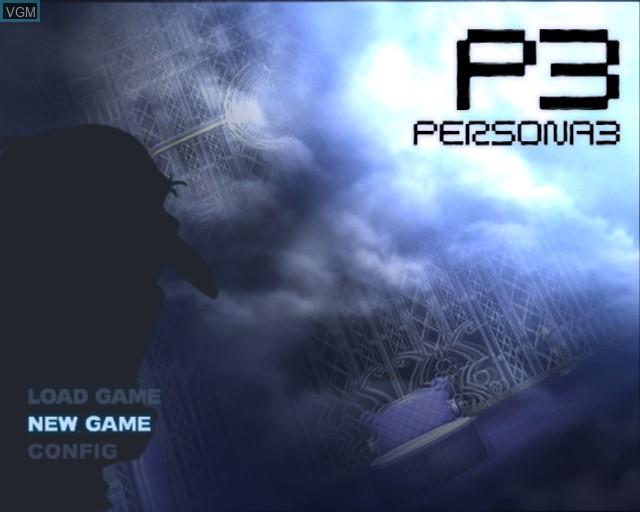 Image du menu du jeu Shin Megami Tensei - Persona 3 sur Sony Playstation 2