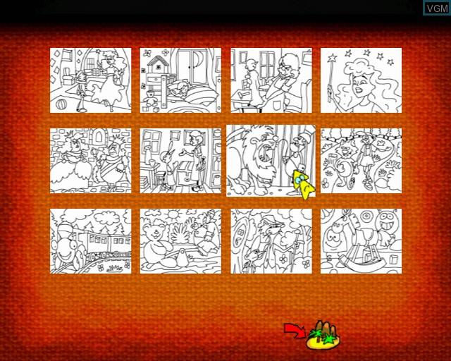 Image du menu du jeu Pinocchio sur Sony Playstation 2