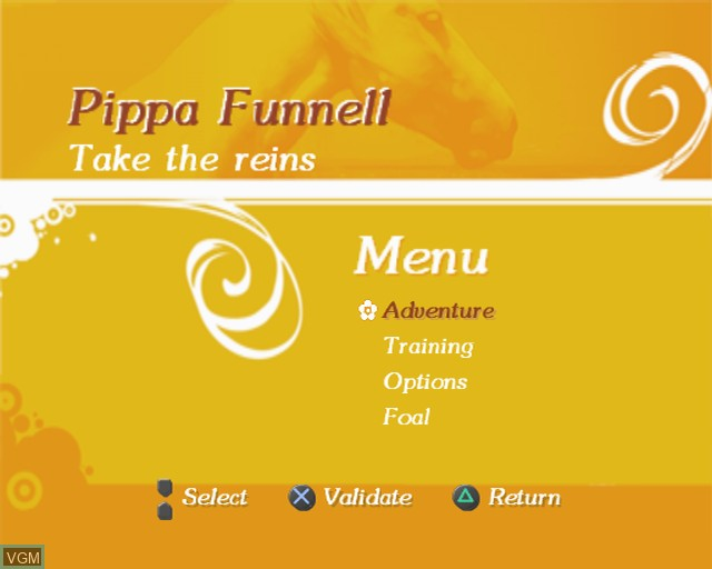 Image du menu du jeu Pippa Funnell - Take the Reins sur Sony Playstation 2
