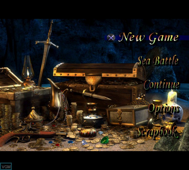 Image du menu du jeu Pirates - The Legend of Black Kat sur Sony Playstation 2