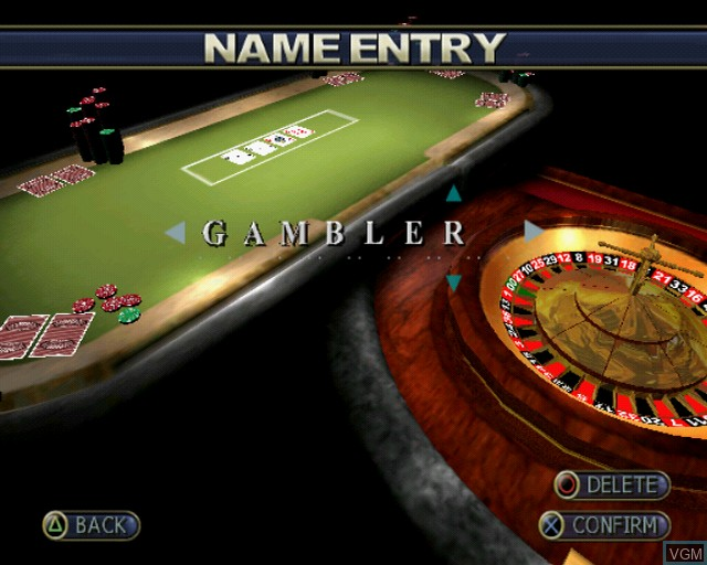Image du menu du jeu Playwize Poker & Casino sur Sony Playstation 2