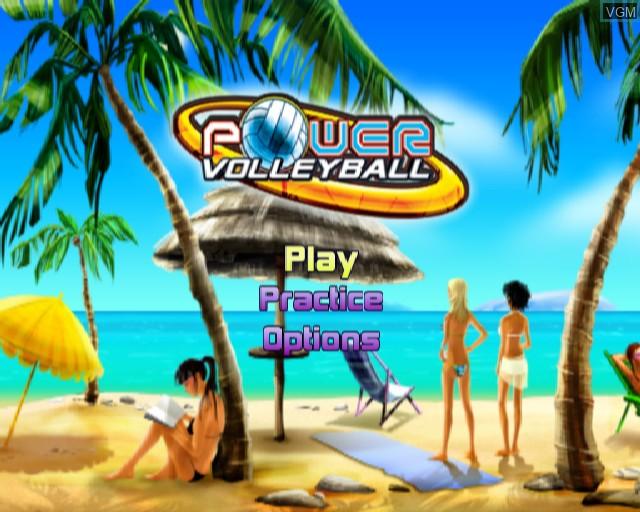 Image du menu du jeu Power Volleyball sur Sony Playstation 2