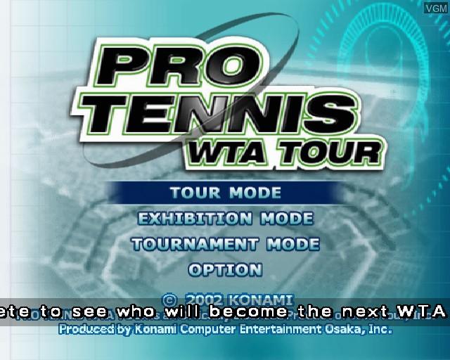 Image du menu du jeu Pro Tennis WTA Tour sur Sony Playstation 2