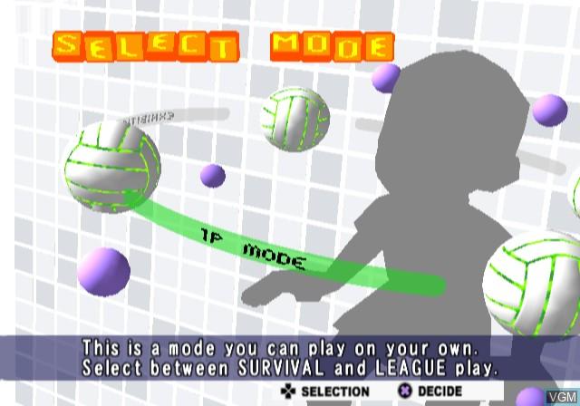 Image du menu du jeu Volleyball Challenge sur Sony Playstation 2