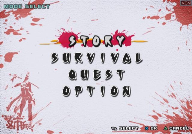 Image du menu du jeu Zombie Zone - Other Side sur Sony Playstation 2