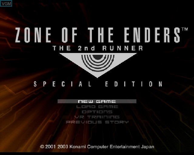Image du menu du jeu Zone of the Enders - The 2nd Runner sur Sony Playstation 2