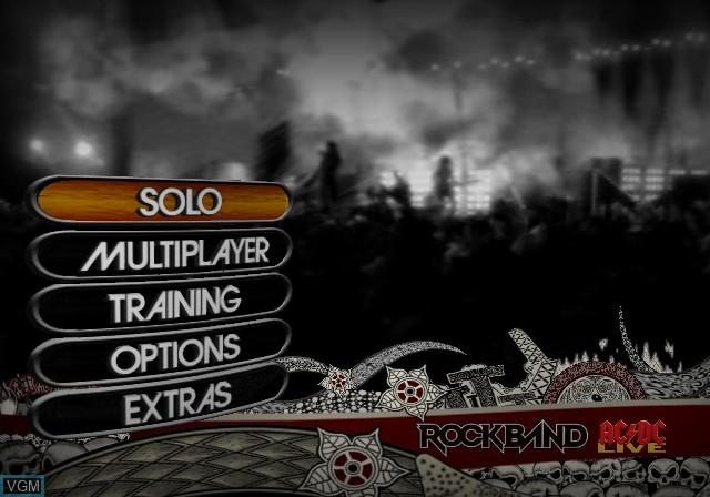 Image du menu du jeu AC/DC LIVE - Rock Band Track Pack sur Sony Playstation 2