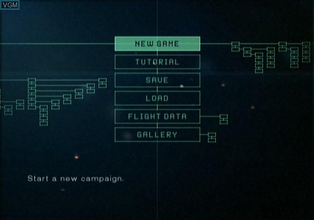 Image du menu du jeu Ace Combat 5 - The Unsung War sur Sony Playstation 2