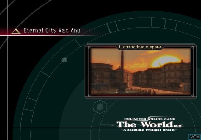 Image du menu du jeu .hack//G.U. Vol. 1//Rebirth sur Sony Playstation 2