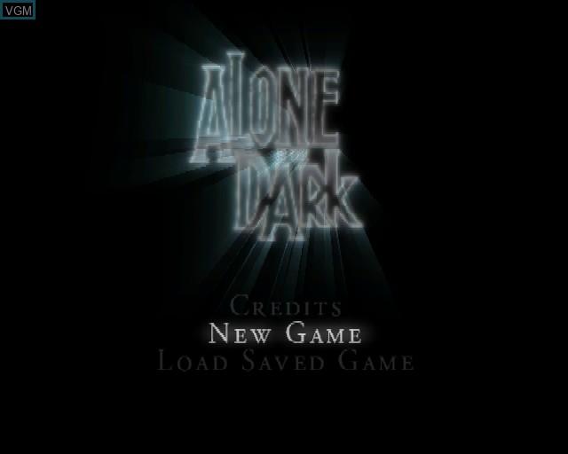 Image du menu du jeu Alone in the Dark - The New Nightmare sur Sony Playstation 2