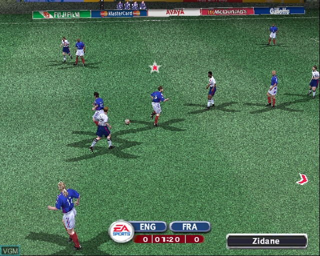 Image in-game du jeu 2002 FIFA World Cup sur Sony Playstation 2