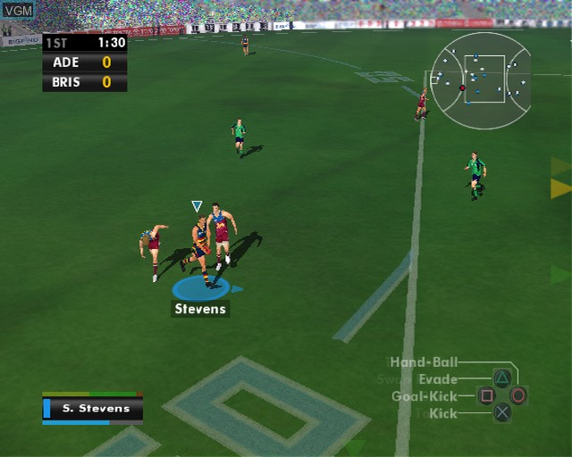 Image in-game du jeu AFL Premiership 2007 sur Sony Playstation 2