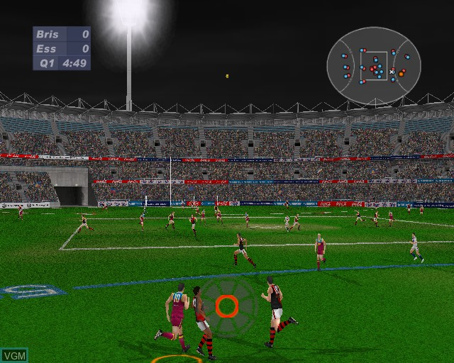 Image in-game du jeu AFL Live 2003 sur Sony Playstation 2