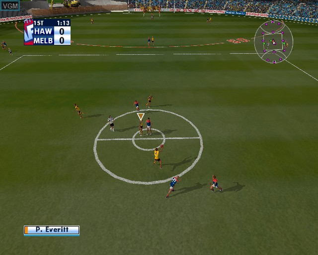 Image in-game du jeu AFL Premiership 2005 - The Official Game of the AFL Premiership sur Sony Playstation 2