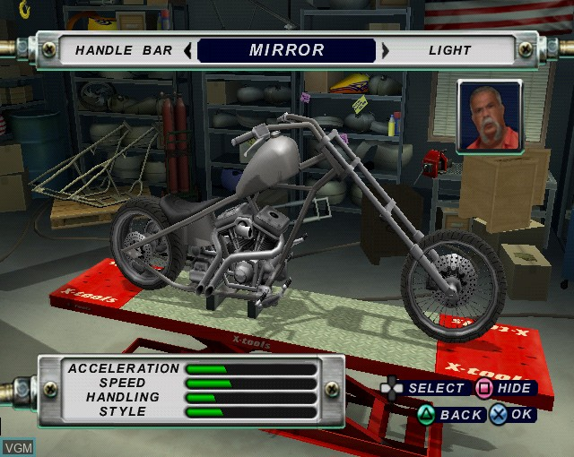 Image in-game du jeu American Chopper 2 - Full Throttle sur Sony Playstation 2
