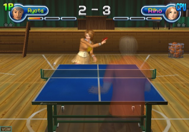 Image in-game du jeu Pink Pong sur Sony Playstation 2