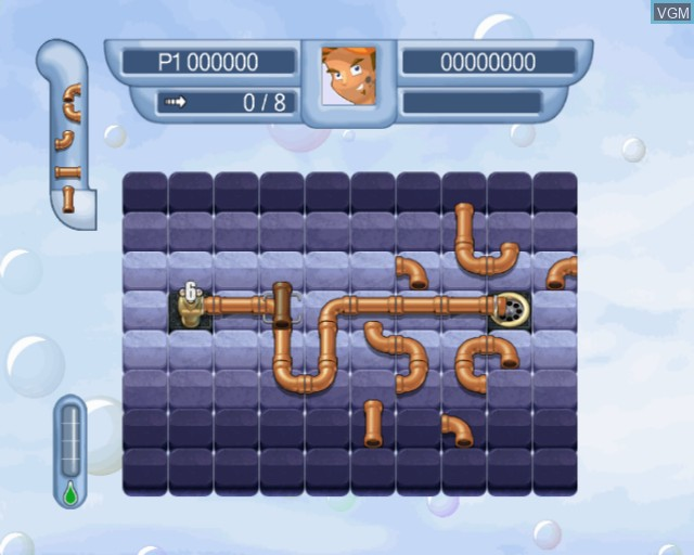 Image in-game du jeu Pipe Mania sur Sony Playstation 2