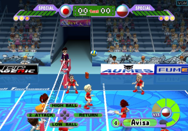 Image in-game du jeu Volleyball Challenge sur Sony Playstation 2