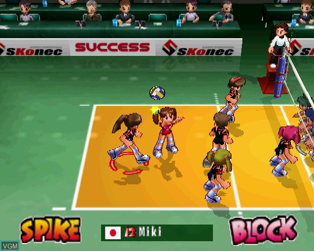 Image in-game du jeu Volleyball Xciting sur Sony Playstation 2