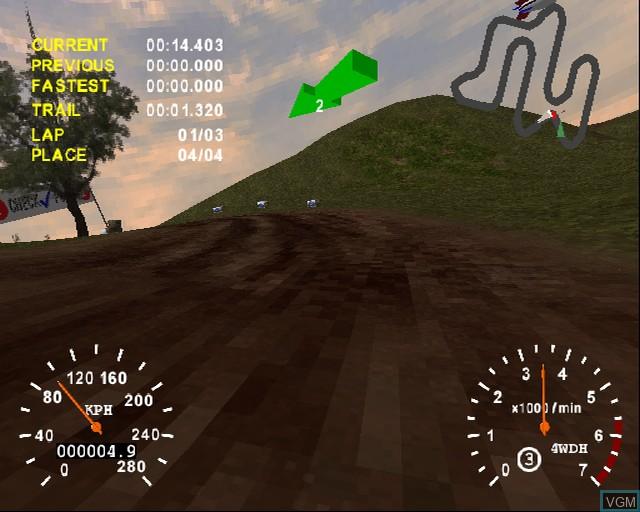 Image in-game du jeu 4X4 Evolution sur Sony Playstation 2