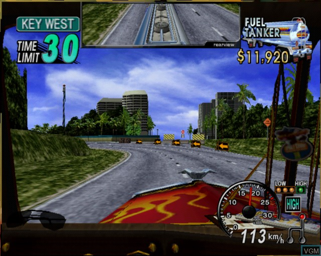 Image in-game du jeu 18 Wheeler - American Pro Trucker sur Sony Playstation 2