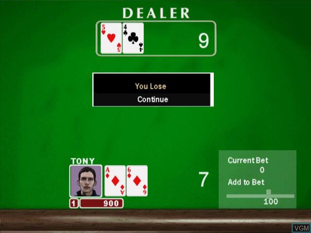 Image in-game du jeu 21 Card Games sur Sony Playstation 2