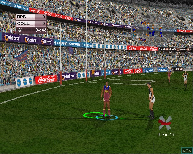 Image in-game du jeu AFL Live Premiership Edition sur Sony Playstation 2