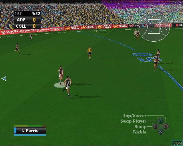 Image in-game du jeu AFL Premiership 2006 sur Sony Playstation 2