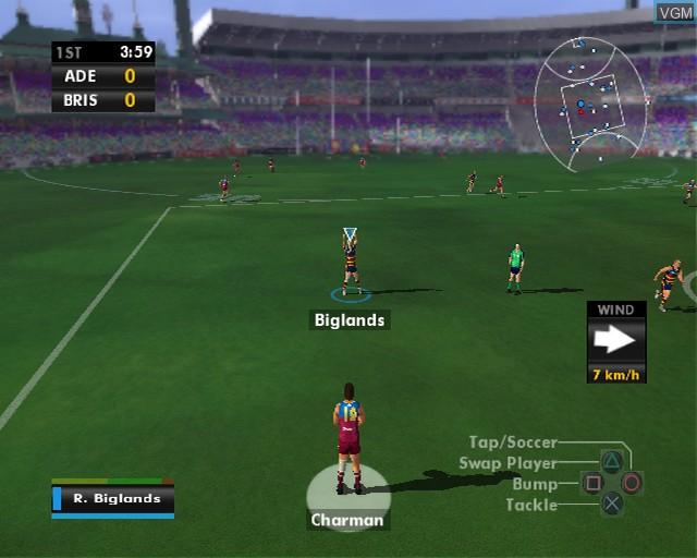 Image in-game du jeu AFL Premiership 2007 sur Sony Playstation 2