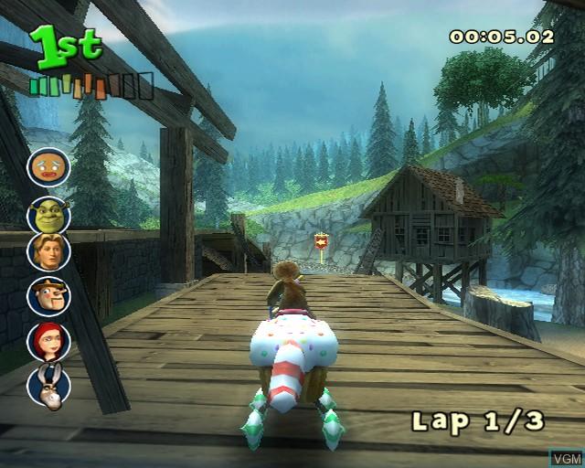 Image in-game du jeu Shrek Smash n' Crash Racing sur Sony Playstation 2