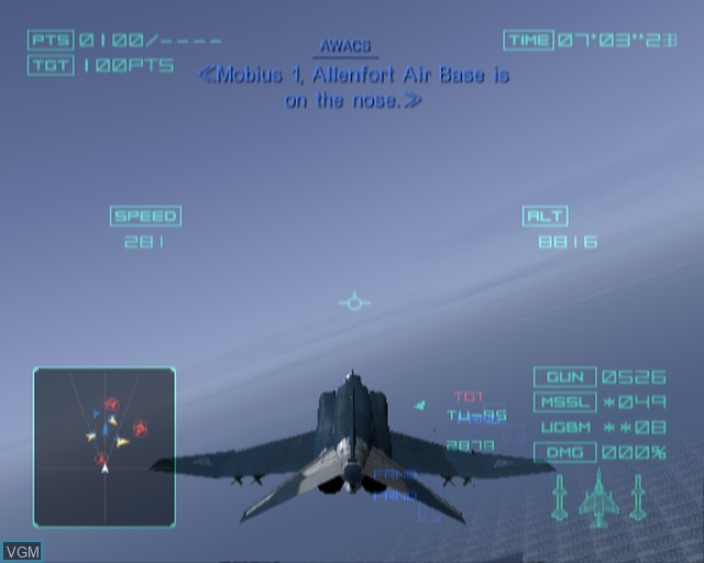 Image in-game du jeu Ace Combat - Distant Thunder sur Sony Playstation 2