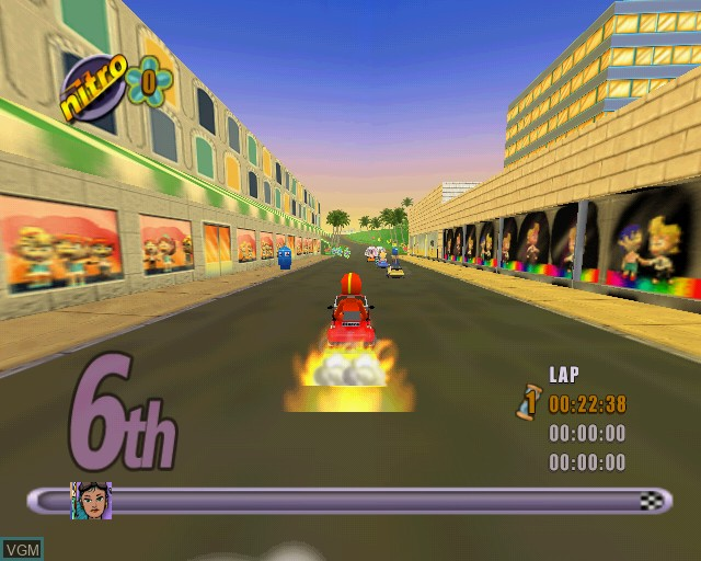 Image in-game du jeu Action Girlz Racing sur Sony Playstation 2