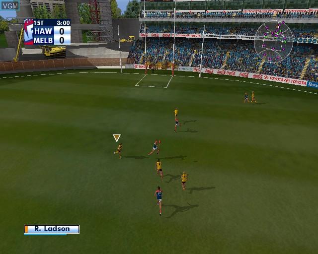 Image in-game du jeu AFL Premiership 2005 - The Official Game of the AFL Premiership sur Sony Playstation 2