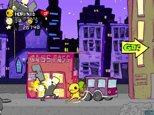 Image in-game du jeu Alien Hominid sur Sony Playstation 2