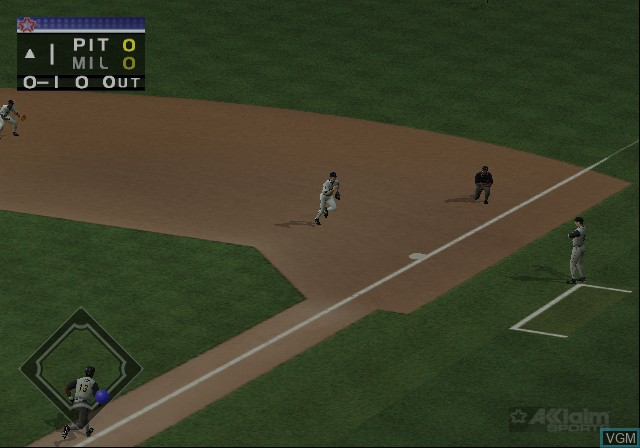 Image in-game du jeu All-Star Baseball 2002 sur Sony Playstation 2