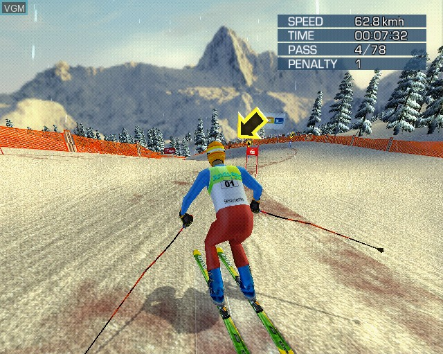 Image in-game du jeu Alpine Skiing 2005 sur Sony Playstation 2