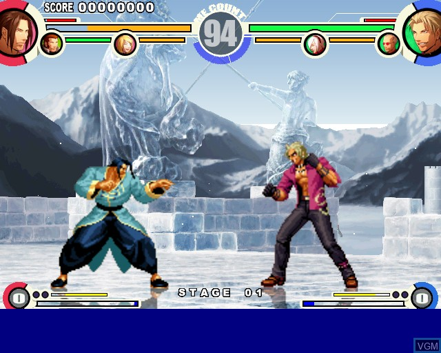 Image in-game du jeu King of Fighters XI, The sur Sony Playstation 2