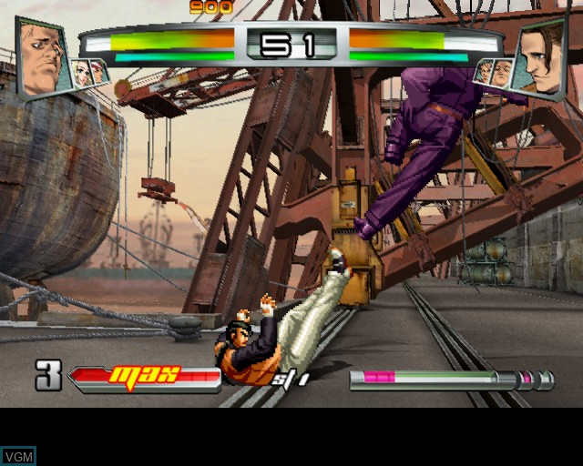 Image in-game du jeu King of Fighters NeoWave, The sur Sony Playstation 2