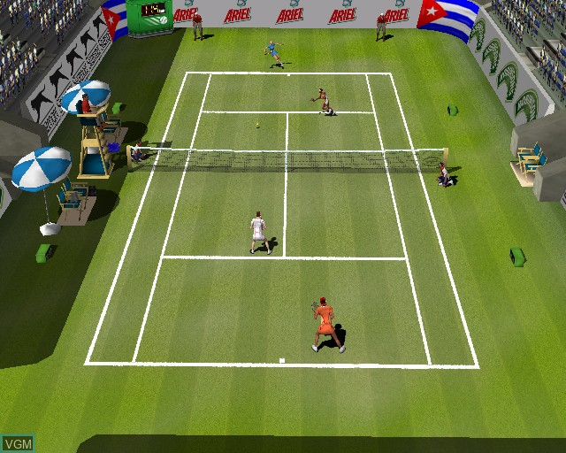 Image in-game du jeu Perfect Ace 2 - The Championships sur Sony Playstation 2