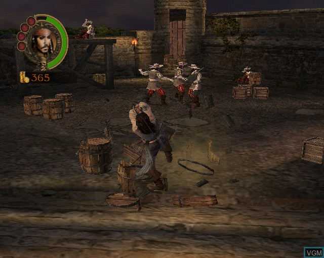 Image in-game du jeu Pirates of the Caribbean - The Legend of Jack Sparrow sur Sony Playstation 2