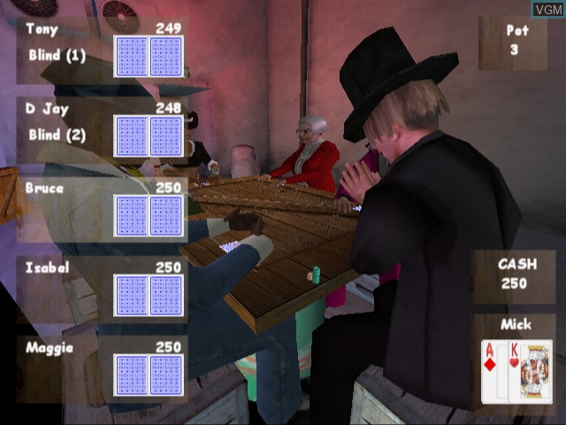 Image in-game du jeu Poker Masters sur Sony Playstation 2