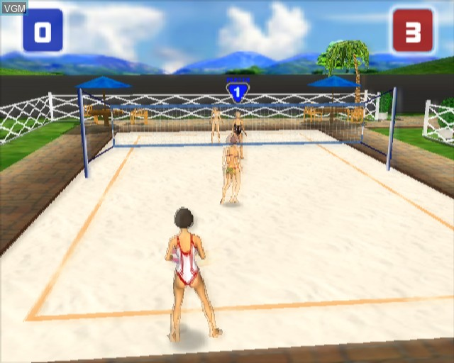Image in-game du jeu Power Volleyball sur Sony Playstation 2