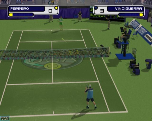 Image in-game du jeu Slam Tennis sur Sony Playstation 2