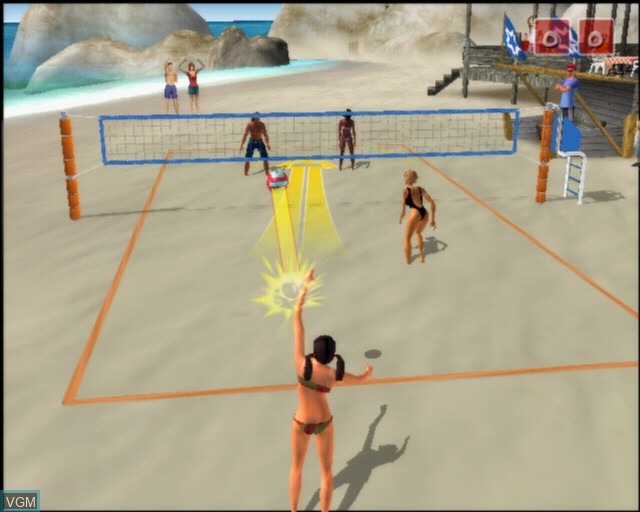 Image in-game du jeu Summer Heat Beach Volleyball sur Sony Playstation 2