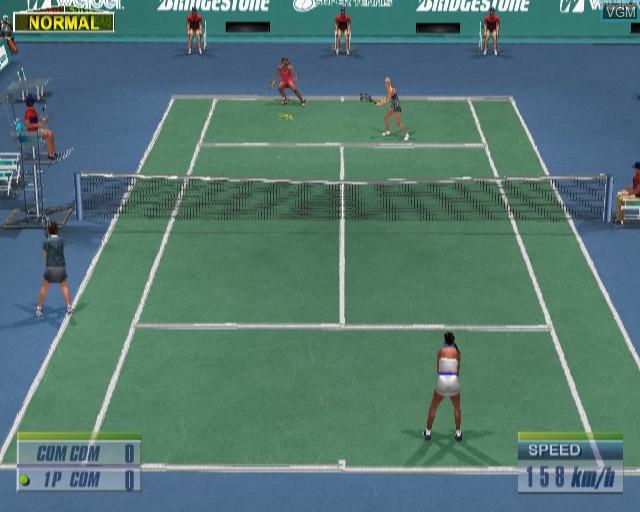 Image in-game du jeu Virtua Tennis 2 sur Sony Playstation 2