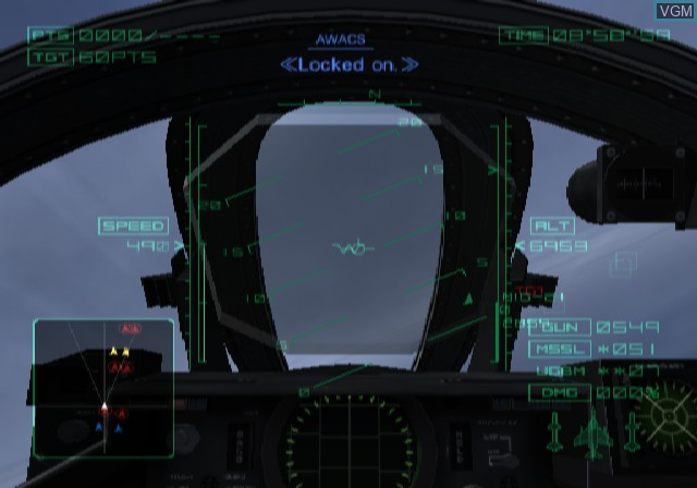 Image in-game du jeu Ace Combat 04 - Shattered Skies sur Sony Playstation 2