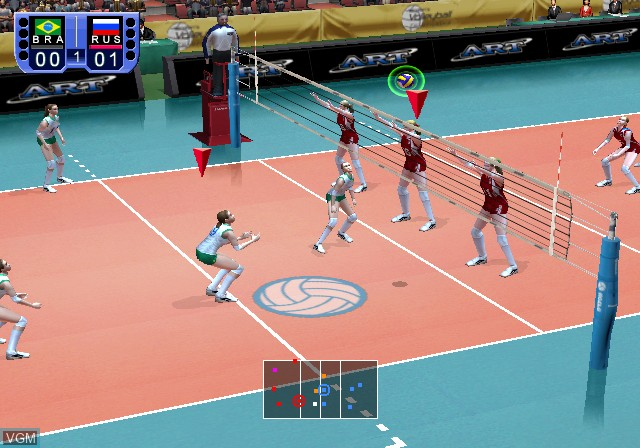 Image in-game du jeu Women's Volleyball Championship sur Sony Playstation 2