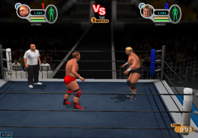 Image in-game du jeu All-Star Professional Wrestling III sur Sony Playstation 2